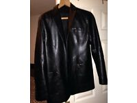 Mens non leather coat