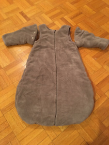 Cozy sleep sack/winter muff with removable arms