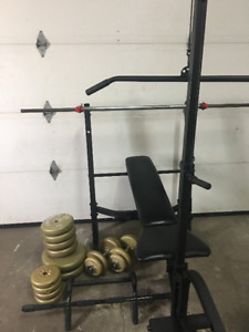 Bench press/station d'exercices
