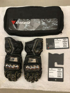 Dainese Full Metal Pro Race Track Motorcycle Gloves All Black