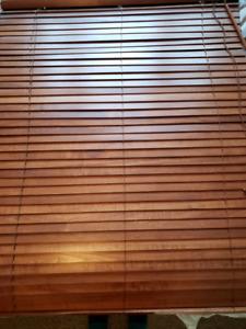 Wood blinds - 2 sets same size