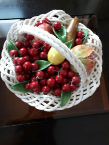 Beautiful ceramic fruit basket table decor