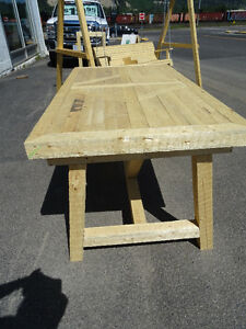 Wood Patio Table, locally hand made