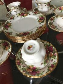 Royal Albert Old Country Rose Set - collectors item