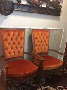 Two regal vintage chairs