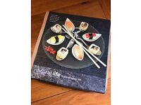 Brand New Canapé / Tapas Serving Set with Slate Tray