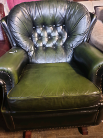 Green Chesterfield Rocking chair