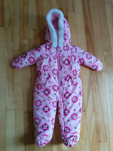 Girls Size 3months  1 piece Snowsuit