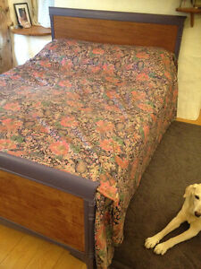 Antique double mahoghany bed frame
