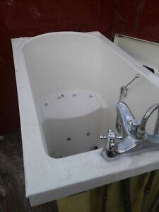 Bath with door and seat