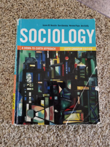 Sociology : A down to earth approach