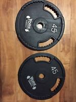 45lbs x 2 Olympic Barbell Plates