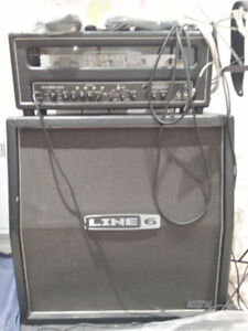 Line 6 half stack, head, and pedal