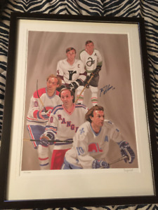 GUY LAFLEUR MONTREAL CANADIENS CADRE HOCKEY SPORTS SIGNÉ