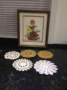Tablecloths, handmade doilies, & needlepoint picture Peterborough Peterborough Area image 9