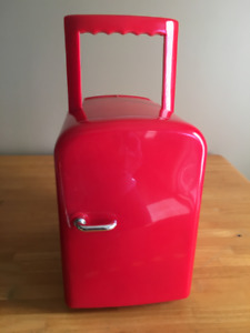 Portable Mini Fridge - 4 Liter/6 Can Electric Cooler and Warmer