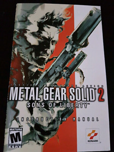 Metal Gear Sold 2 (Instruction Manual Only)  $5 or offer a trade