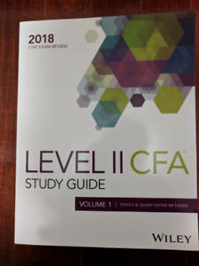 Wiley Study Guide for 2018 Level 2 CFA Exam (Brand New!)