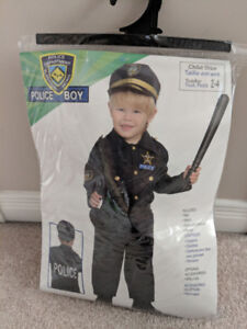 Halloween child police officer costume