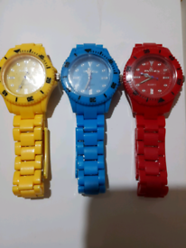 Coloured plastic watches 3 for £5.00