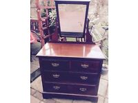 Old solid wood dressing table