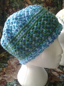 BLUE&GREEN COLOR HAT HANDMADE size medium