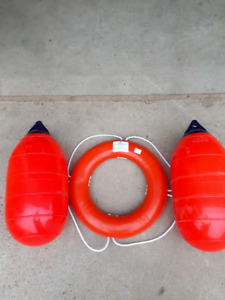 large bumpers and life ring