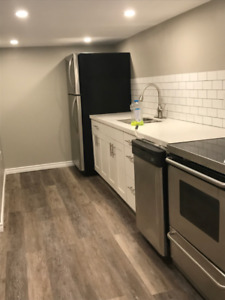 Renovated 1 Bedroom Basement Unit walk to Hamilton General Hosp.