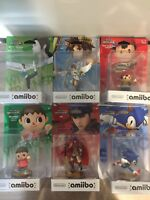 Amiibos - WFT, Pit, Ness, Villager, Ike, Sonic