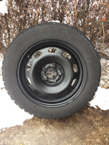 "4 185/60x15"" Gdyear Nordic Winter tires ballanced on Steel Rims"