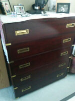 Solid Mahogany Bedroom Set for sale