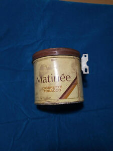 Matinee vintage antique tin box