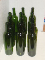 Clean No Labels 750ML Wine Bottles  Green Bottles $9.00 A Dozen