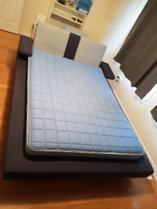 ALESUND Queen Size Bed IKEA (BLUE, foldable arms) with Mattress