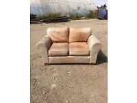 Marks & Spencer 2 Seater Faded Leather Sofa