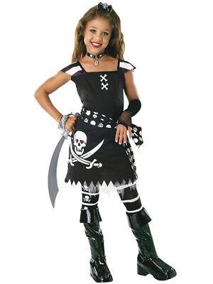 Child Girls Drama Queen ScarLet Fancy Dress Costume Halloween Pirate Book Week (Scarlet Girl Kostüme)