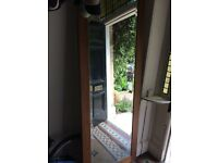 Large Mirror Bevelled Edge, hardwood frame 6'x2' approx