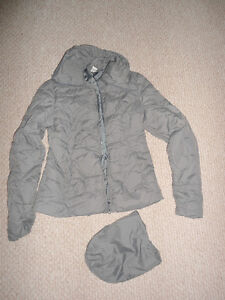 Packable Mid-Season Coat (Fall/Spring) Size XS - Grey