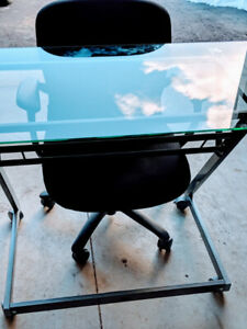 Modern Glass Table & High End Office Chair