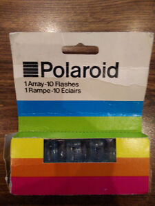 Vintage Polaroid Flash Array 10 Flashes in original packaging