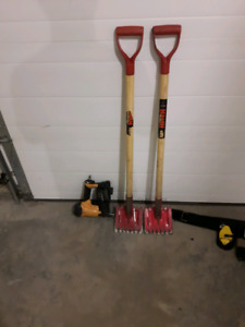 Roofing nailer and stripping shovels