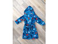 John Lewis Boys fleece dressing gown. Age 8