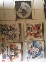 5 PS3 games- sports games $7 each all for $25