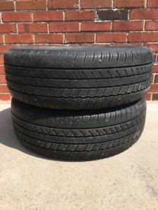 Tires: 225 60 R18: 2 Dunlop Grandtrek 225 60 R18