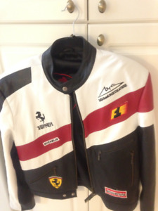 Leather Jacket - Ferrari, Racing Patches