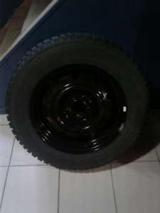 Like new Snow Tires with 4 black rims P215/65 R17 Altimax Arctic