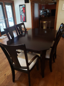 Table, Chairs and 2 pc Hutch
