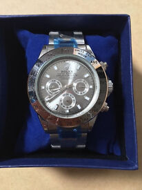 Rolex Daytona Silver, Automatic Watch, Metal Strap *1st Class Postage Available*