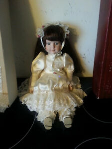 Beautiful Porcelain Collectible Doll