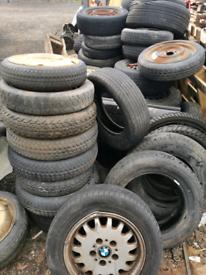 Scrap free over 100 steel wheels and tyres